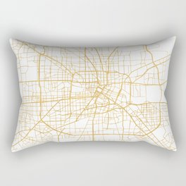 HOUSTON TEXAS CITY STREET MAP ART Rectangular Pillow