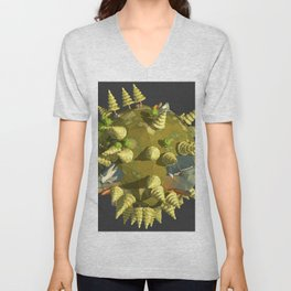 Low Poly Earth 4 Unisex V-Neck