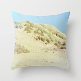 Blue Dunes Throw Pillow