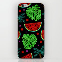 Tropical mosaic design on black. iPhone Skin