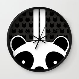 Racing Panda Wall Clock