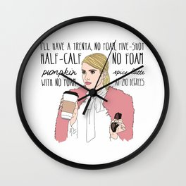 No Foam- Scream Queens 2 Wall Clock