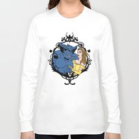 beauty and the beast Long Sleeve T-shirts featuring Beauty and Beast by Don Calamari