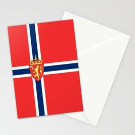 Flag of Norway Scandinavian Cross and Coat of Arms Stationery Cards