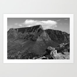 Table Mountain Cape Town South Africa Art Print