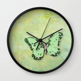 Green Botanica Wall Clock