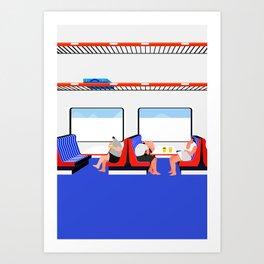make out on train Art Print