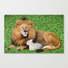 Lion and Lamb Canvas Print