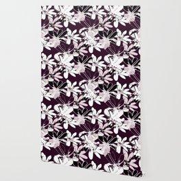 Magnolia - Dark Burgundy Wallpaper