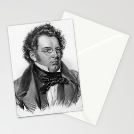 Kriehuber- Portrait of Schubert Stationery Cards