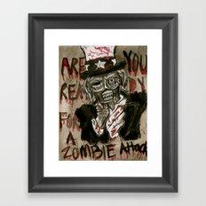 Zombie Sam Framed Art Print