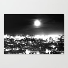Boston and the Super Moon Canvas Print