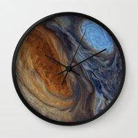 nasa Wall Clocks featuring liver-spotted king (nasa #02) by _mackinac