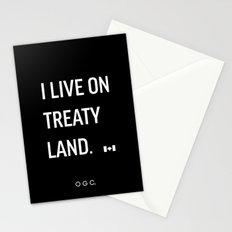 I LIVE ON TREATY LAND Stationery Cards