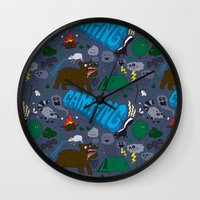 camping Wall Clocks featuring Camping by Chris Piascik