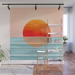 Minimalist Sunset III Wall Mural