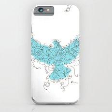 Bird Fly 3 - Aqua/Brown Slim Case iPhone 6s