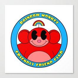 Rainbow Monkey Friendly Friend Club! Canvas Print
