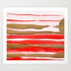 Gold & Apricot Art Print