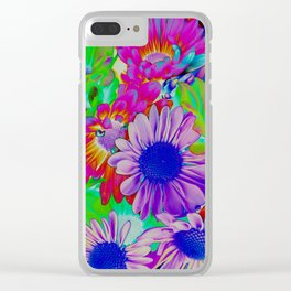 Daisies (Solarized) Clear iPhone Case