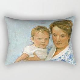 mother and child 2 Rectangular Pillow