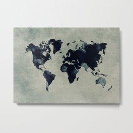 map world map 60 Metal Print