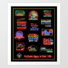 Bourbon Street Neon Signs Art Print