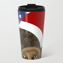 Christmas monkey Travel Mug