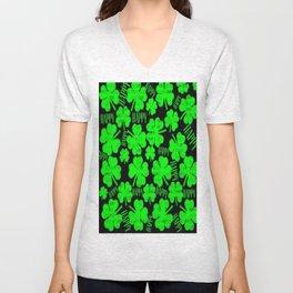 Happy St.Patrick's Day Clovers Unisex V-Neck