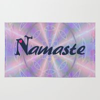 namaste Area & Throw Rugs featuring Namaste by Stay Inspired