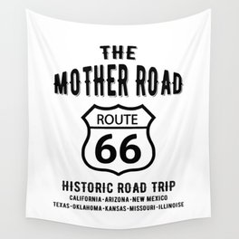 The Mother Road Route 66 - Historic Road Trip Wall Tapestry