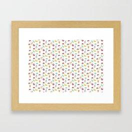 Animal Tiles Framed Art Print