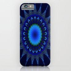 Blue kaleidoscope fractal star Slim Case iPhone 6s