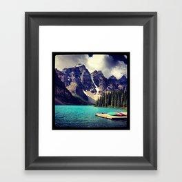 Colour Canoes Framed Art Print