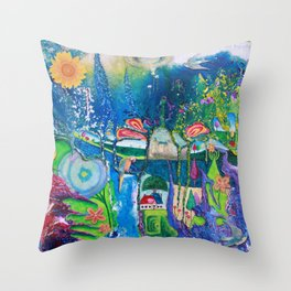 Traveling Into Infinity Throw Pillow