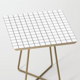 Grid Simple Line White Minimalist Side Table