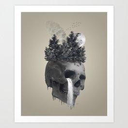 Sadness, Angry & Loneliness Art Print