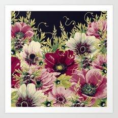 Vintage Garden 39B Art Print