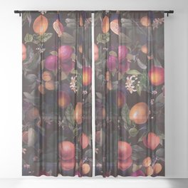 Vintage Fruit Pattern XXIV Sheer Curtain