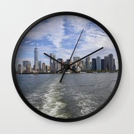 Sandwiched NYC Skyline Wall Clock