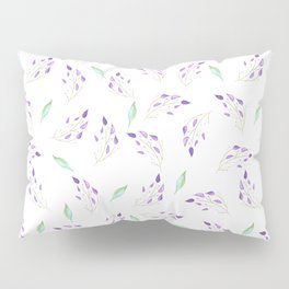 Mint and Leaves Pillow Sham