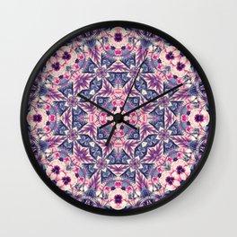mandala 4 purple #mandala Wall Clock
