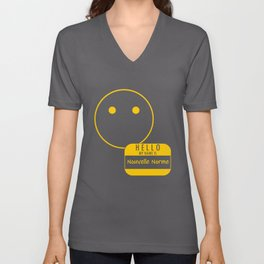 Voiceless: Hello My Name is Nouvelle Norme Unisex V-Neck