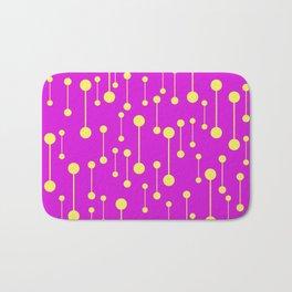 Bonded - Minimalistic Pattern In Purple And Yellow Bath Mat