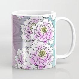 Poeny-Japanese Kimono Art Coffee Mug
