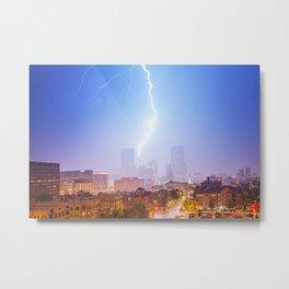 Denver Lightening Metal Print