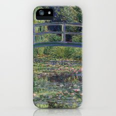 Water Lilies and the Japanese bridge by Claude Monet iPhone SE Slim Case