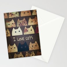 cat-cats-188 Stationery Cards