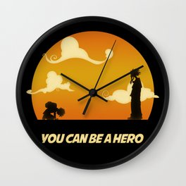 My Hero Sunset Wall Clock