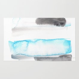 170603 Watercolour Colour Study 11  |Modern Watercolor Art | Abstract Watercolors Rug